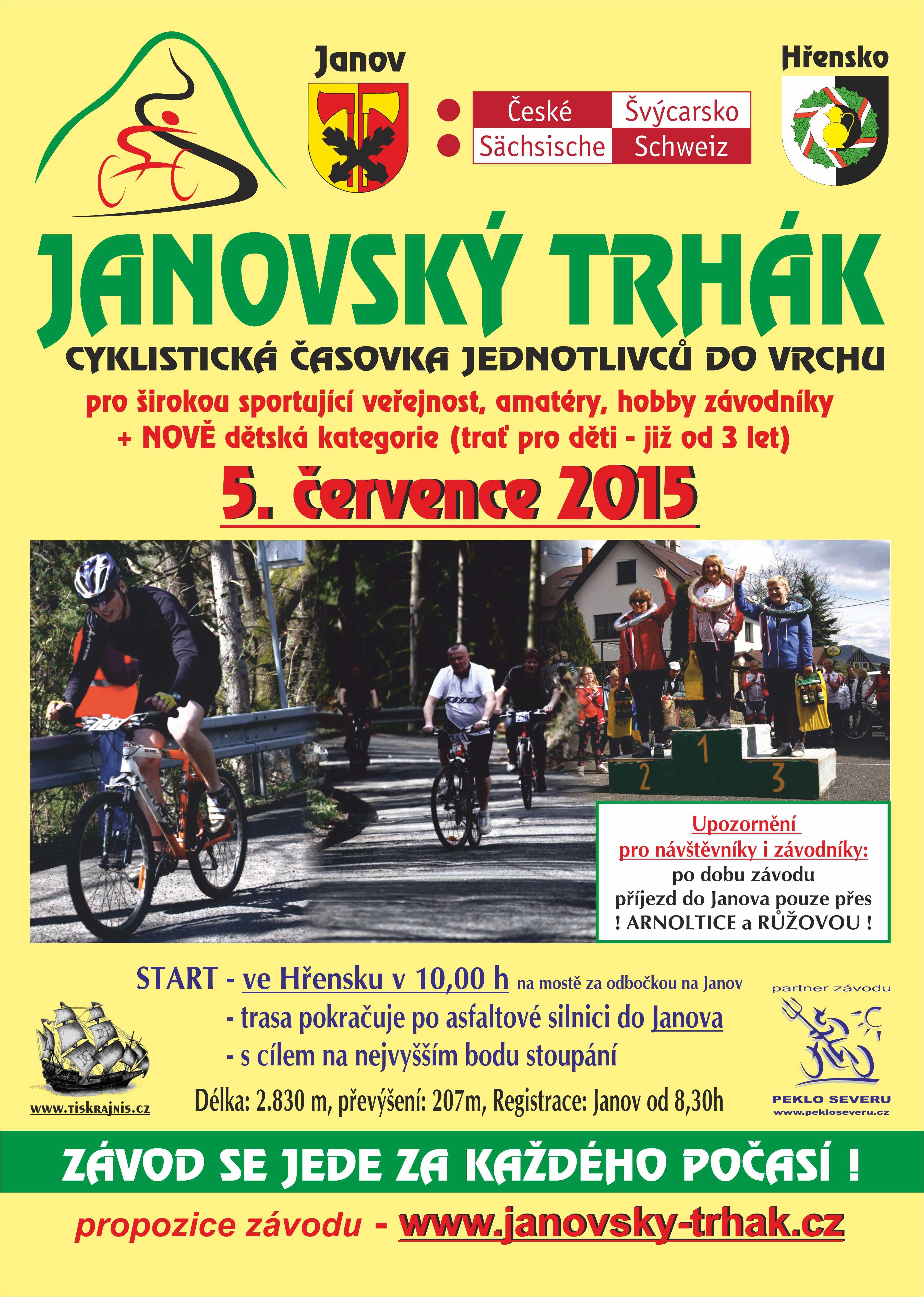 Janov - plakát 2015 Janovský trhák