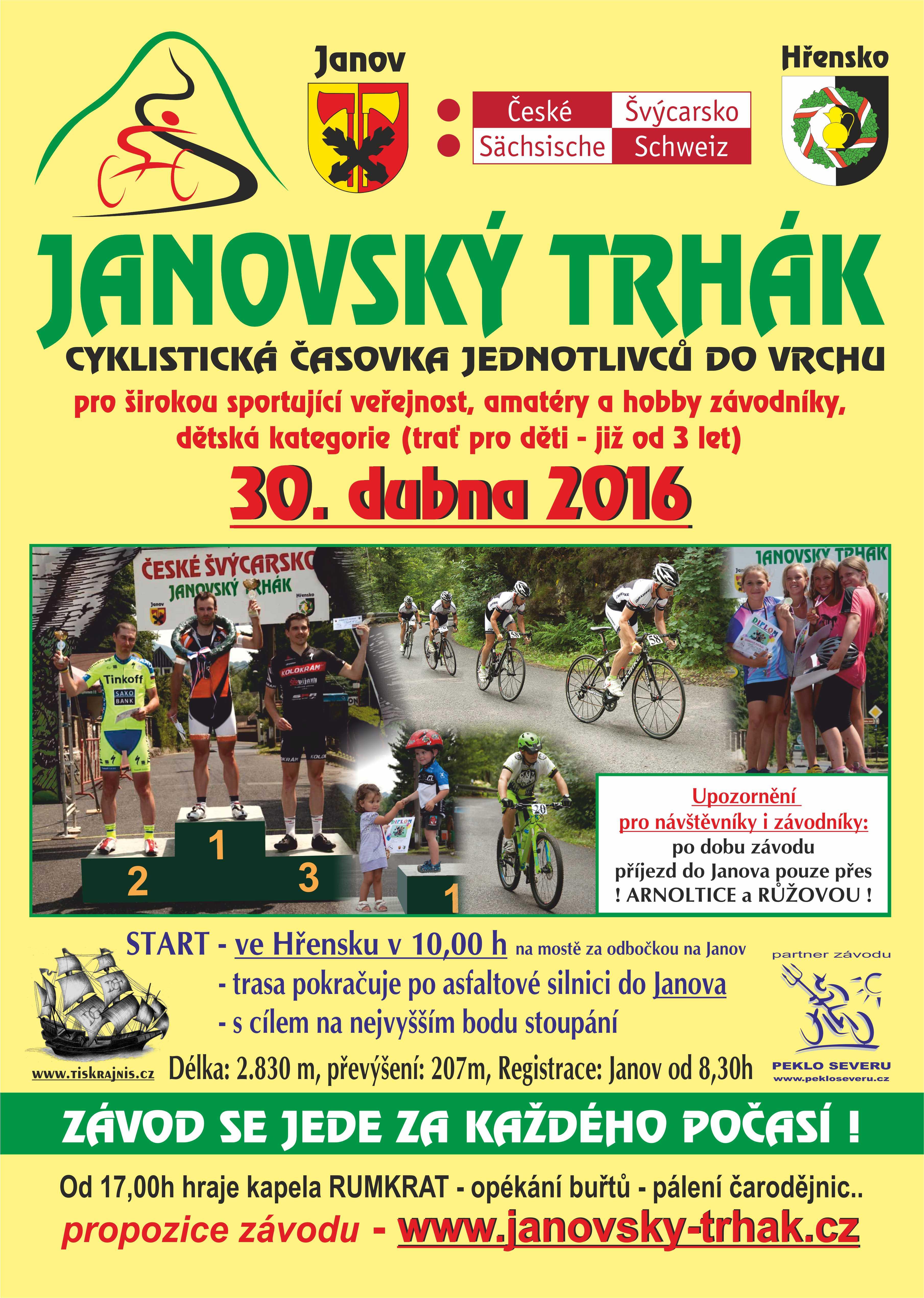 Janov - plakát 2016 Janovský trhák